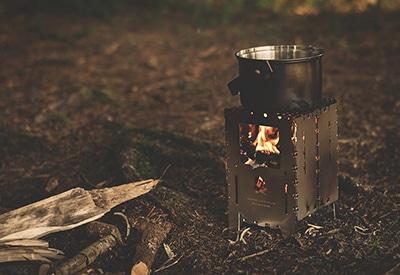 Holzkocher Campingkocher sicher